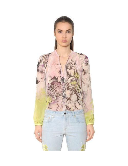 Roberto Cavalli | Женская Рубашка Из Кружева И Шёлкового Жоржета С