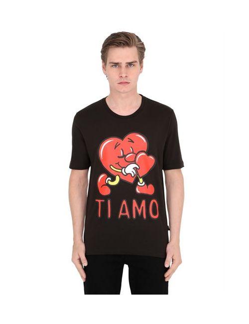 Love Moschino | Мужская Футболка Из Хлопкового Джерси С Принтом