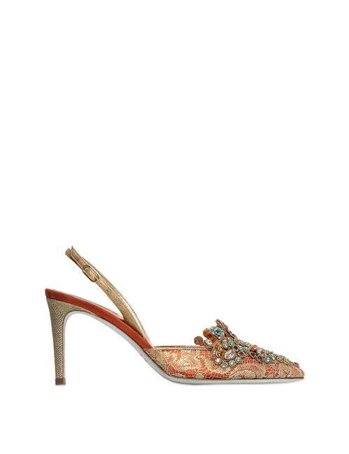 RENÈ CAOVILLA | Женские Кружевные Туфли С Кристаллами Swarovski 75mm