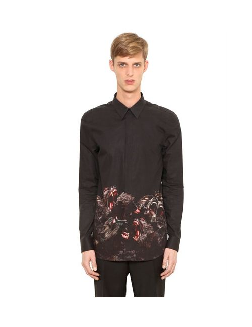 Givenchy   Мужская Рубашка Из Хлопкового Поплин