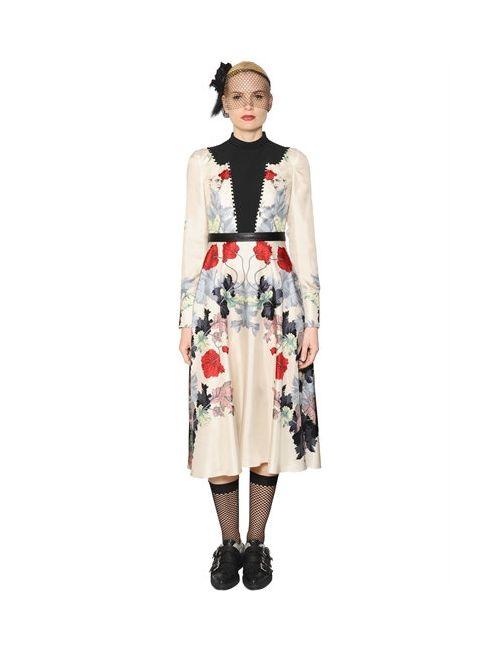 Antonio Marras | Женское Платье Из Саржи И Крепа С Цветочным