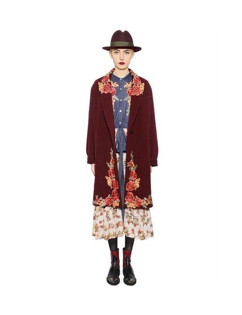 Antonio Marras | Женское Пальто Из Полушерстяного Велюра С Вышивкой