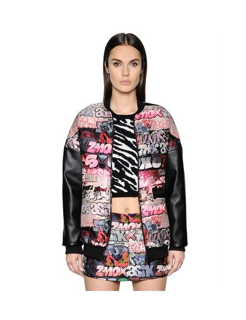 GIAMBA | Женская Куртка-Бомбер Из Жаккарда И Искусственной Кожи