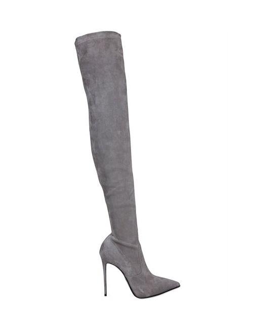 Le Silla | Женские Ботфорты Из Стретч Замши 110mm