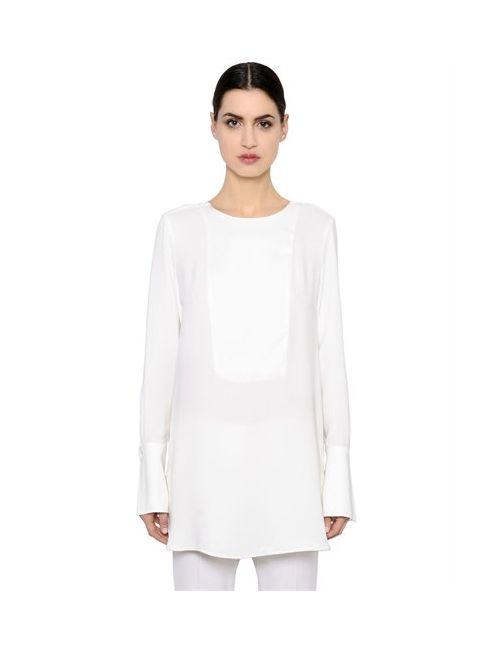 Max Mara | Женская Длинная Рубашка Из Шёлкового Крепдешина