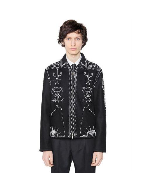 Valentino | Мужская Шерстяная Куртка С Вышивкой Бусинами