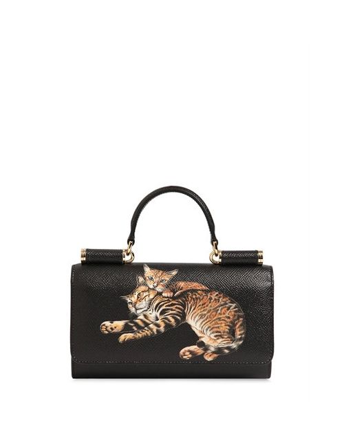 Dolce & Gabbana | Женский Кожаный Клатч С Отделом Для Телефона