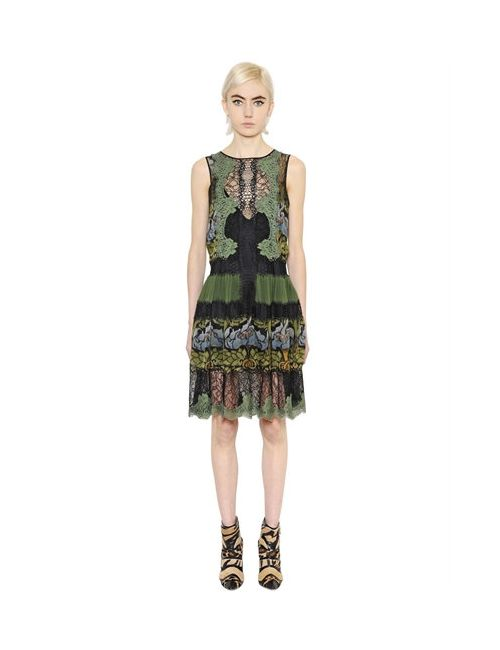 Alberta Ferretti | Женское Платье Из Кружева И Шёлкового Шифона С