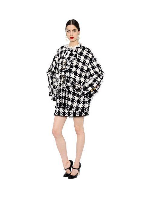 Dolce & Gabbana | Женское Полушерстяное Пальто С Макрорисунком И Пряжкой