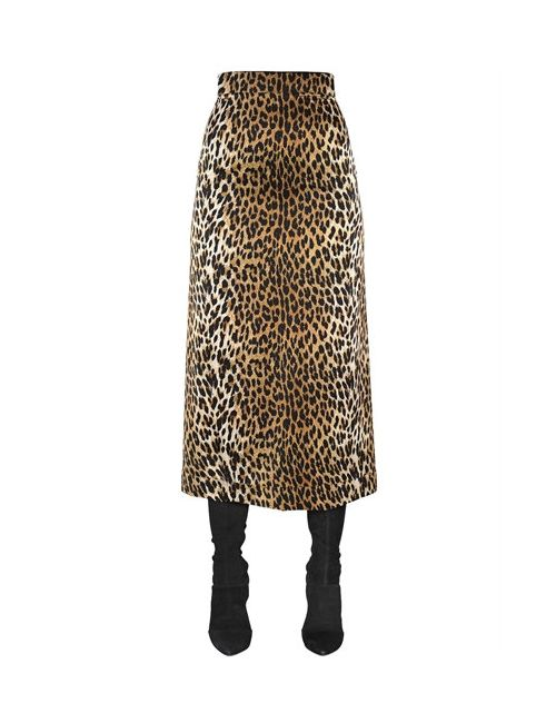 Emanuel Ungaro | Женская Юбка Из Шёлкового Атласа С Леопардовым Принтом