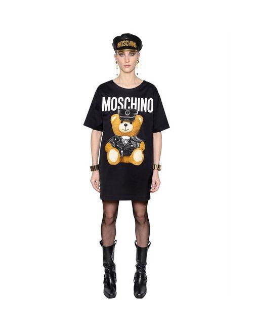 Moschino | Женское Платье Из Стретч Атласа