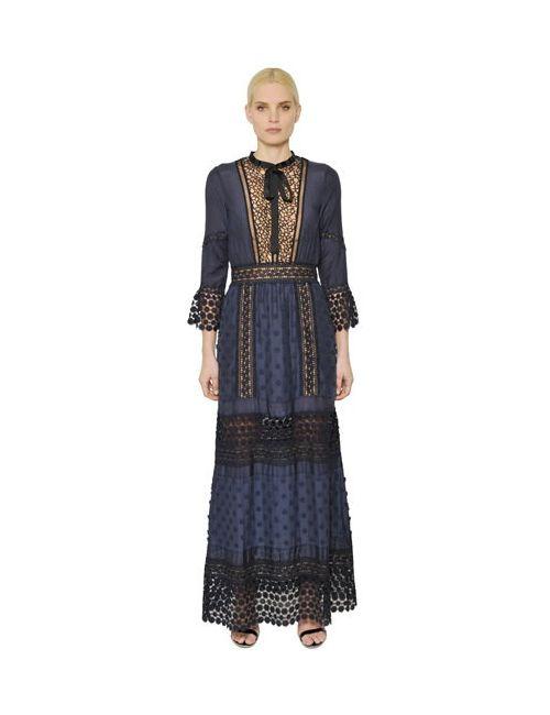 SELF-PORTRAIT | Женское Кружевное Платье Spring С Цветочной Вышивкой