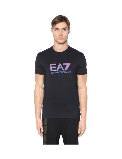EA7 EMPORIO ARMANI | Мужская Хлопковая Футболка С Принтом Логотипа
