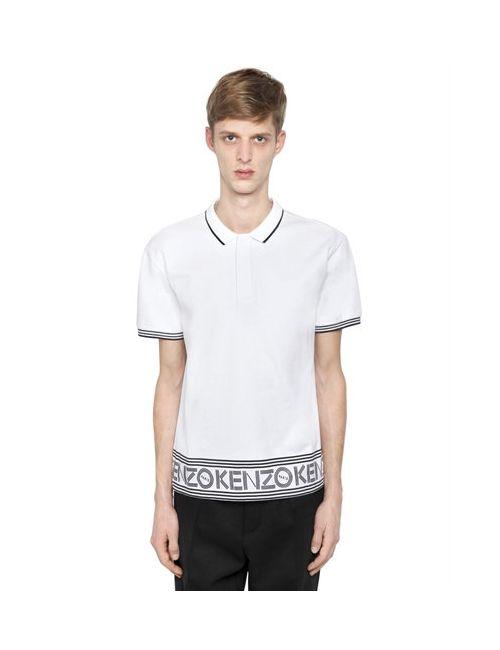 Kenzo | Мужская Рубашка-Поло Из Хлопкового Джерси С Логотипом