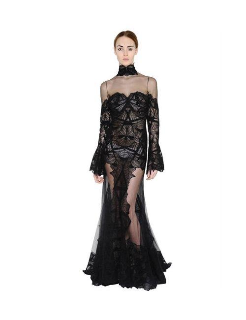 Jonathan Simkhai   Женское Платье Из Хлопкового Кружева И Тюля