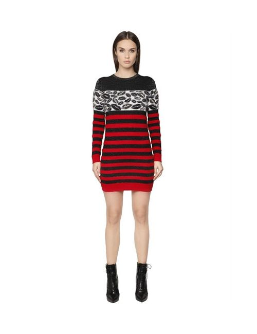 Just Cavalli | Женское Платье Из Полушерстяного Трикотажа И Жаккарда