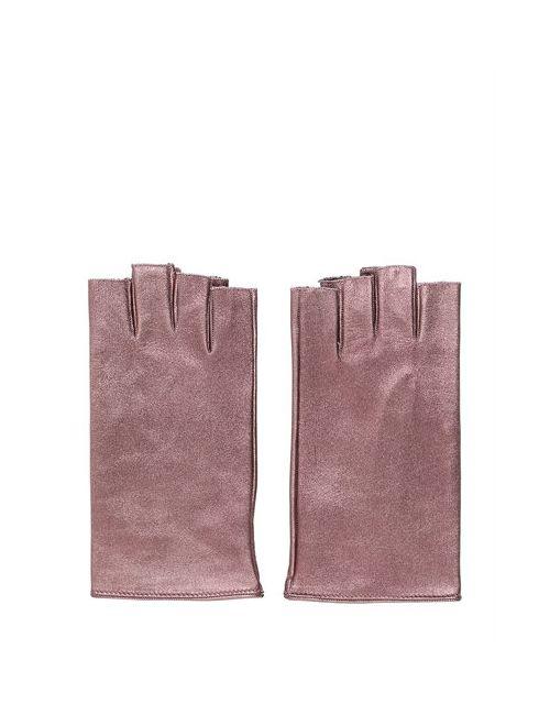 MARIO PORTOLANO | Женские Кожаные Перчатки С Эффектом Металлик