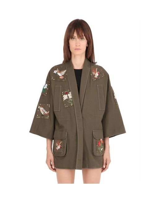 Red Valentino | Женская Куртка Из Канвас С Вышивкой