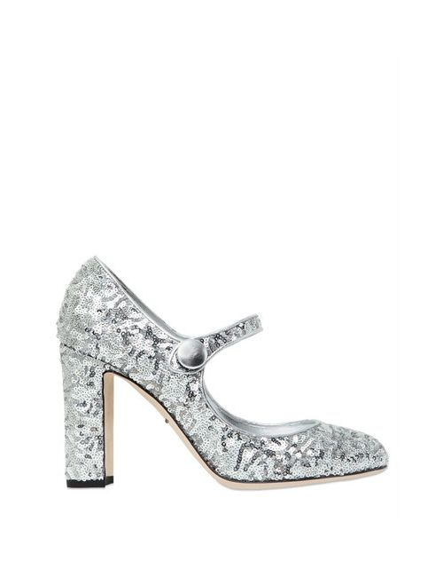 Dolce & Gabbana | Женские Женщины Туфли Mary Jane С Пайетками 90mm