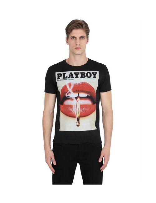 Playboy | Мужская Мужчины Футболка Из Хлопкового Джерси С Принтом