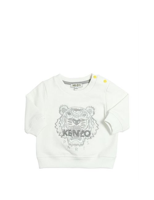 Kenzo Kids | Белый Lurex Embroidered Cotton Sweatshirt