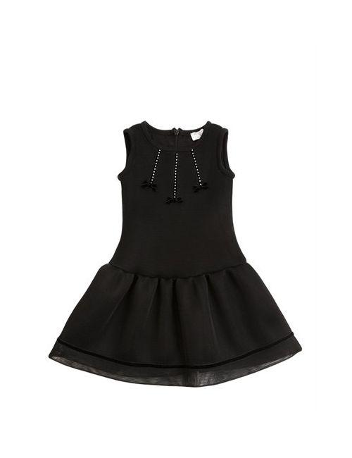 Mona Lisa | Чёрный Doubled Mesh Cotton Jersey Dress