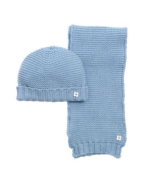 Armani Junior | Синий Cotton Wool Blend Tricot Scarf Hat