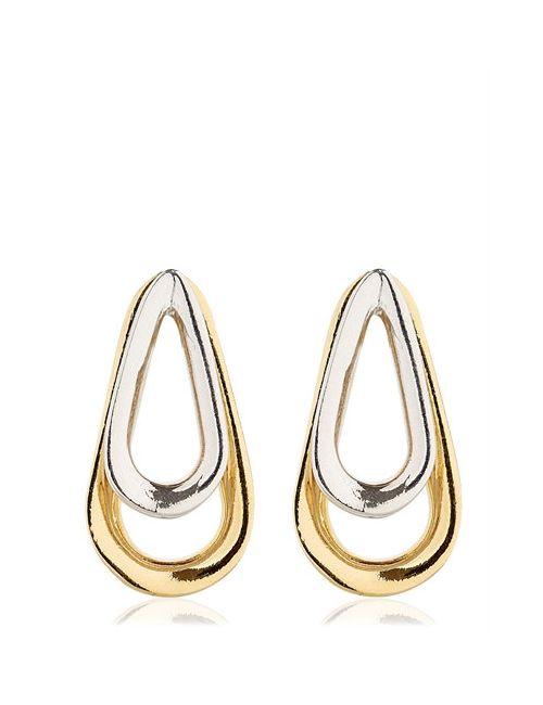 Annelise Michelson   Золотой Double Ellipse Earrings