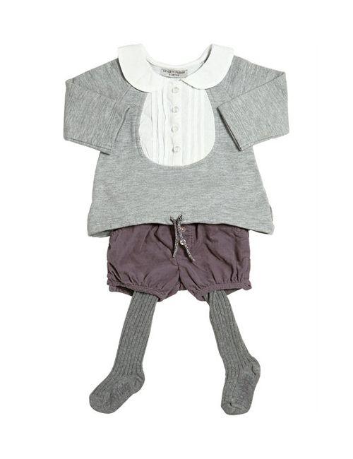STICKY-FUDGE | Серый Cotton Sweatshirt Shorts Tights