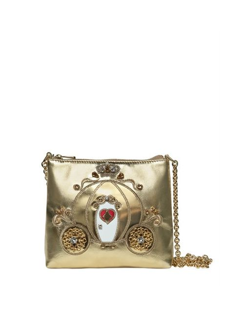 Dolce & Gabbana | Золотой Embellished Carriage Nappa Leather Bag