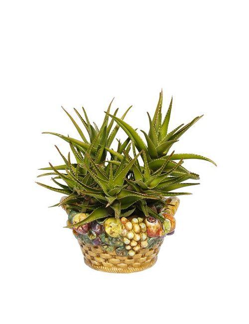CERAMICHE PUGI | Многоцветный Fruit Basket Ceramic Vase