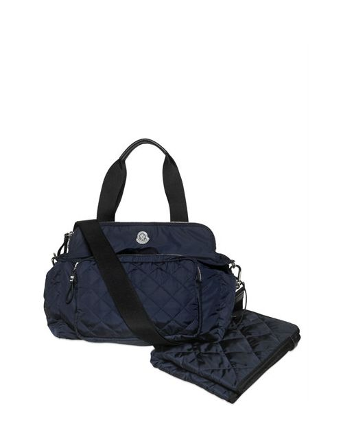 Moncler | Navy Quilted Nylon Changing Bag