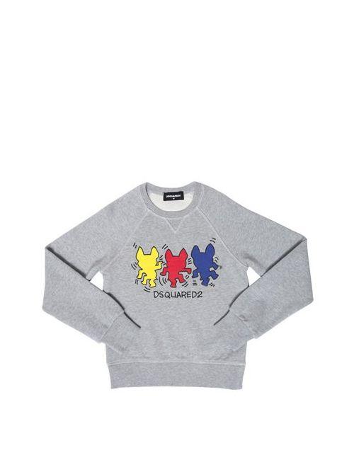 Dsquared2 | Серый Ciro Printed Cotton Sweatshirt