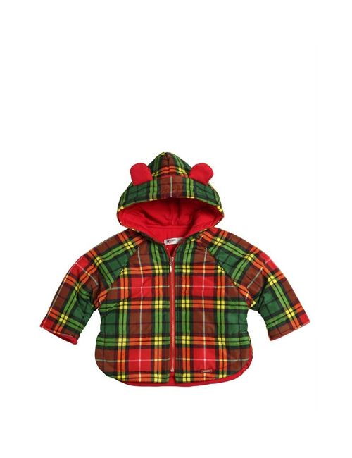Junior Gaultier | Многоцветный Plaid Print Nylon Puffer Jacket W/ Ears