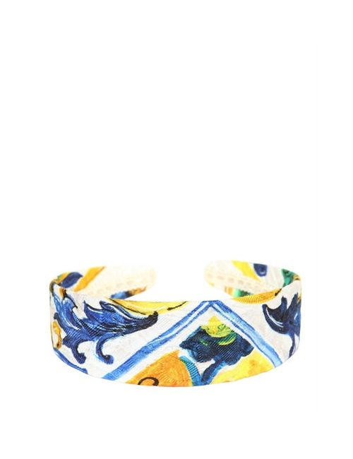 Dolce & Gabbana | Многоцветный Maiolica Printed Brocade Headband