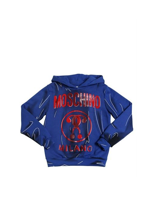 Moschino | Синий Shadow Printed Cotton Sweatshirt