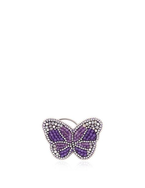 KIKIJEWELS | Фиолетовый B. Romantic Ear Cuff