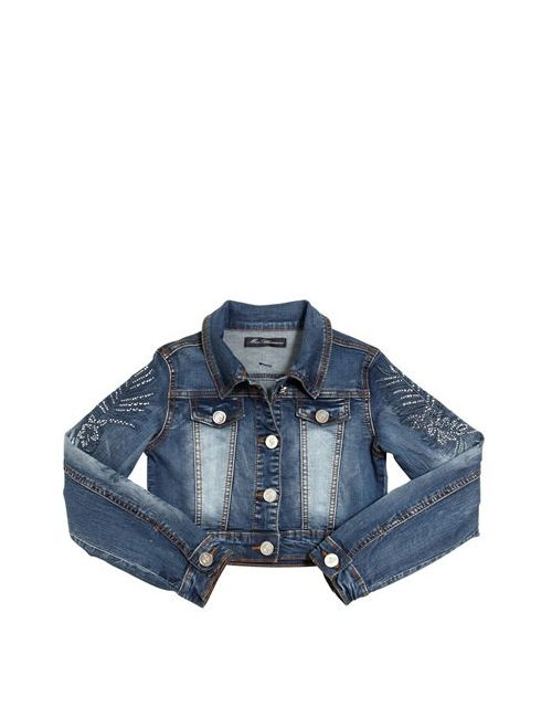 Blumarine Jeans | Синий Embellished Stretch Denim Jacket