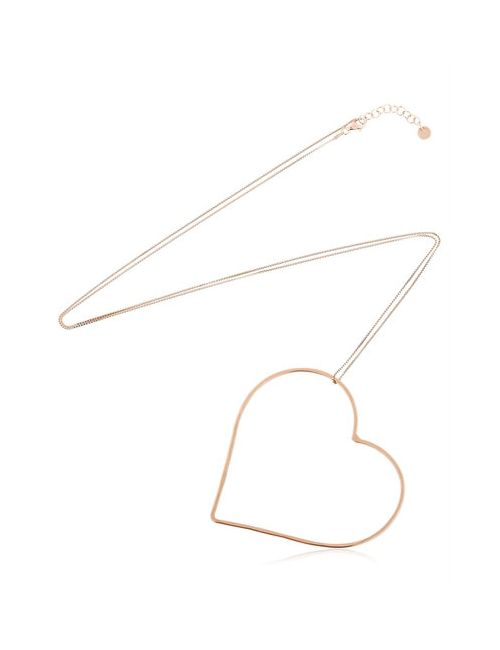 Seeme | Розовый Heart Movement Rose Gold Plated Necklace