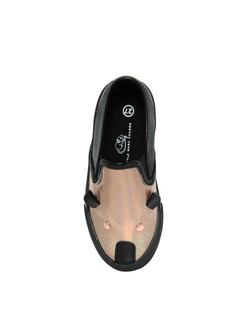 Little Marc Jacobs | Черный Mouse Leather Slip-On Sneakers