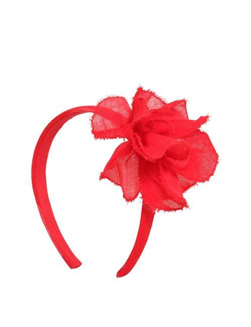 Il Gufo | Красный Wool Gauze Headband W/ Flower