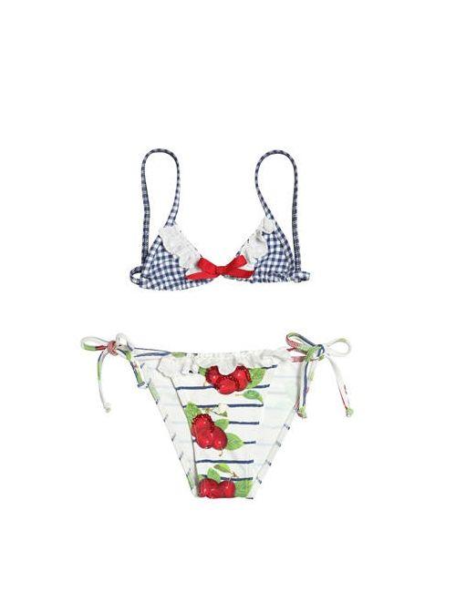 SELINI ACTION | Многоцветный Sequins Embellished Lycra Bikini