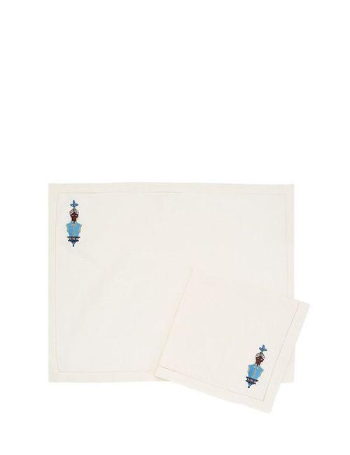 JESURUM VENEZIA 1870 | Синий Moretto Collection Placemat Napkin Set