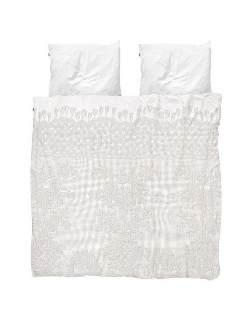 SNURK | Белый Venice Lace Cotton Duvet Cover Set