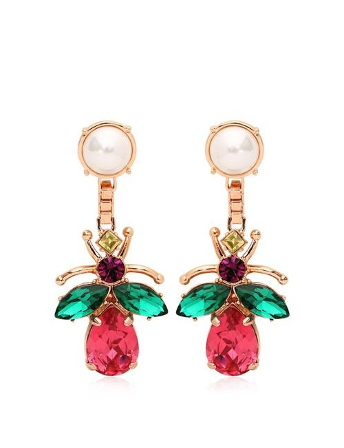 Mawi | Многоцветный Love Bug Crystal Earrings
