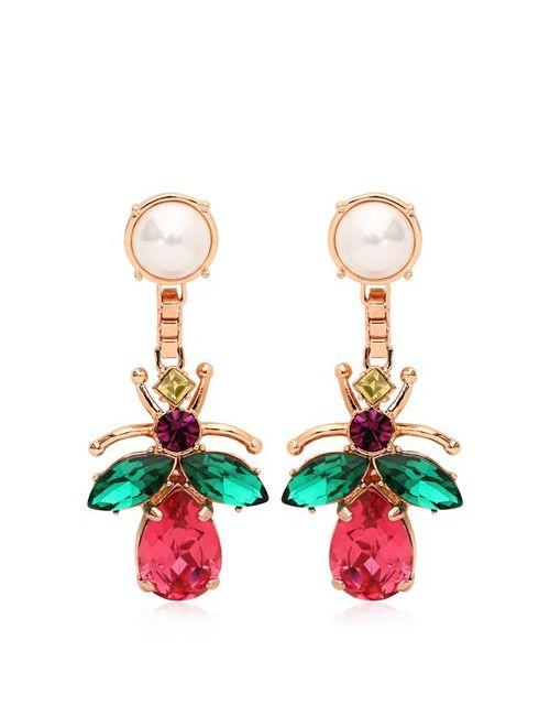 Mawi   Многоцветный Love Bug Crystal Earrings