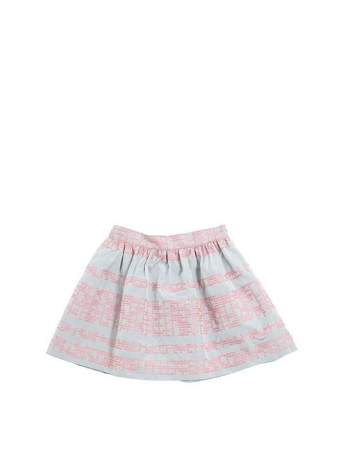 Il Gufo | Серый Embroidered Taffeta Round Skirt