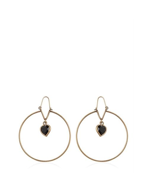 Etro | Золотой Heart Stone Pendant Brass Earrings
