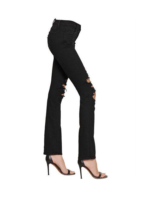 J Brand | Чёрный Betty Destroyed Boot Cut Denim Jeans