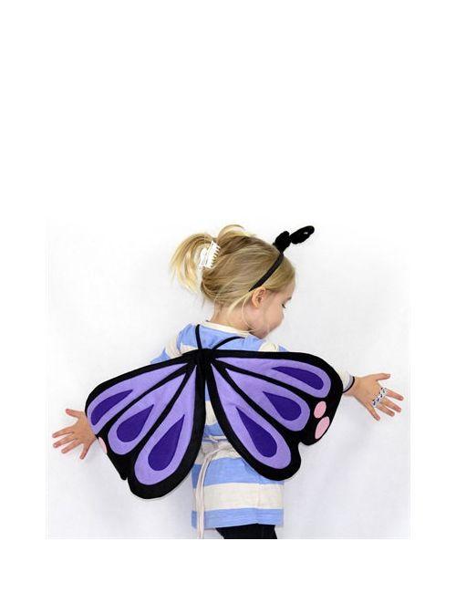 SPARROW & B | Черный Butterfly Wings Hair Band Costume Set